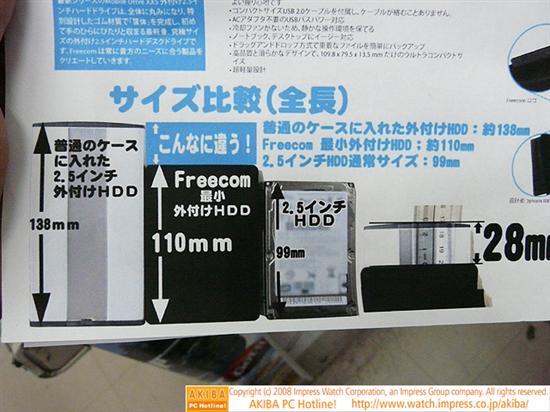 全球最小:原生USB接口2.5寸移动硬盘上市