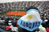 图文:戴杯阿根廷挺进决赛 阿根廷球迷观看比赛