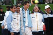 图文:戴杯阿根廷挺进决赛 阿根廷队员兴奋不已