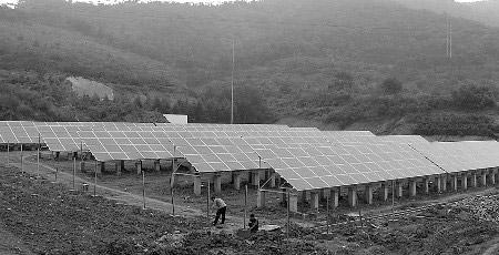太阳能电站的太阳能光板