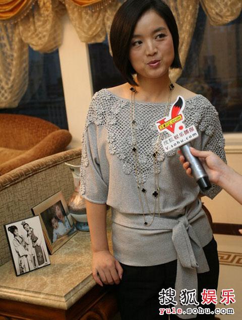 白雪接受搜狐娱乐采访