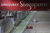 图文:新加坡站第一次练习 莱科宁在比赛中