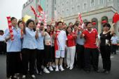 人物图片:李福成2008奥运火炬行(2)