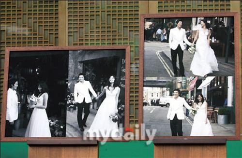 权相宇孙泰英婚礼前公开伦敦拍摄婚纱照01