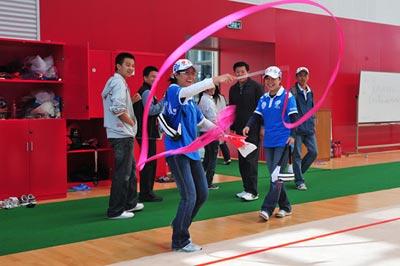 志愿者游北京体育大学体操训练馆