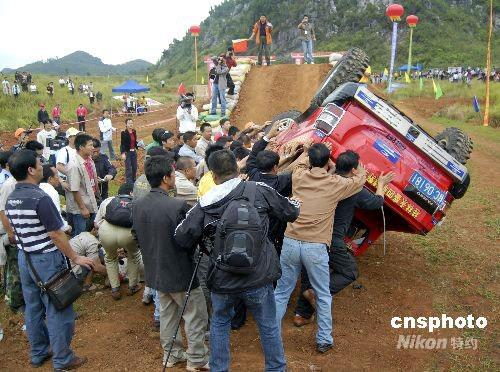 华南越野汽车竞技大赛惊险刺激高清图片