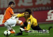 图文:[中超]山东3-1长春 米利安回望足球