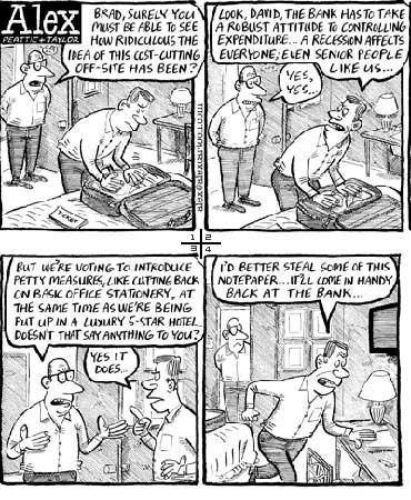 """英国漫画家用画笔揭示金融风暴""""背后的故事"""""""
