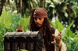 德普在《加勒比海盗2》中