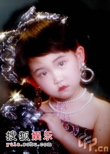 奥运冠军刘子歌儿时艺术照