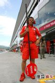 图文:F1日本站首次练习赛 棒棒糖人