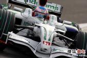 图文:F1日本站第二次练习赛 巴顿和他的战车