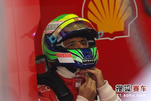 图文:F1日本站第二次练习赛 马萨在比赛后