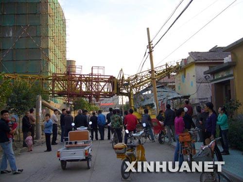 这是山东省淄博市张店区沣水镇刘家村幼儿园事故现场(10月10日摄)。