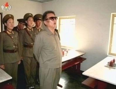 金正日视察军队画面