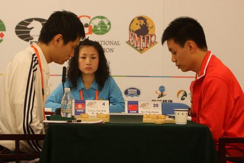 许银川象棋�:-f����,,_图文:象棋男子个人赛第九轮 许银川对阵周世杰