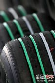 图文:F1日本大奖赛排位赛 普利司通绿色轮胎