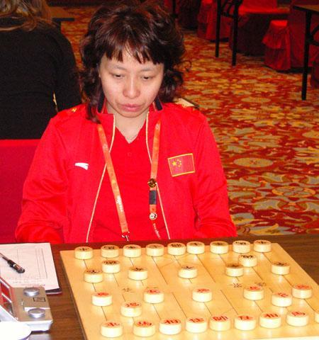 张国凤在比赛中