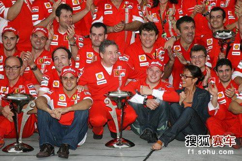 图文:2007赛季F1中国站回顾 法拉利庆祝胜利