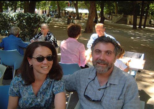 保罗-克鲁格曼和妻子
