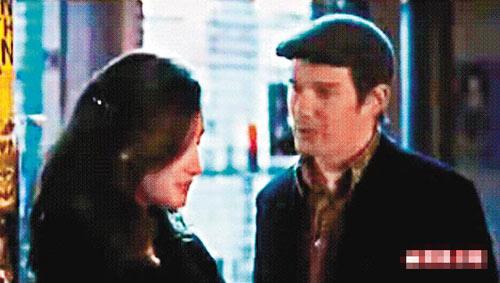 在《我爱纽约》中扮演妓女的Maggie Q与伊桑-霍克大演对手戏