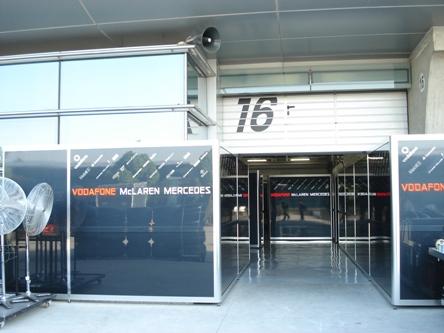 16号维修间属于迈凯轮车队