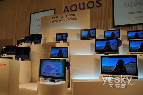 夏普发布首款内置蓝光刻录液晶电视