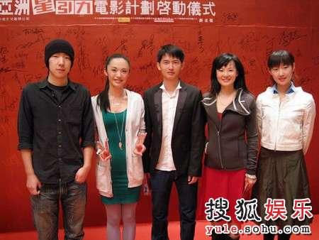 梵太奇公司艺人(左起):吴晓亮、姚晨、吕玉来、咏梅、王飒