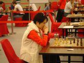 组图:侯逸凡专注棋局 俄罗斯乌克兰两美女对决