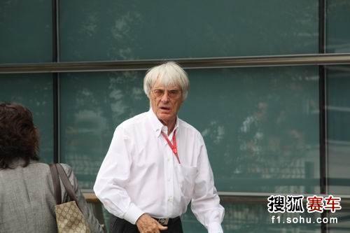 图文:F1中国站一触即发 F1掌门人伯尼