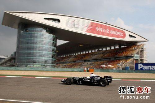 图文:F1中国站第二次练习赛 罗斯伯格过直道