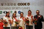 图文:快棋赛中国女团夺冠 获得第三名的俄罗斯队