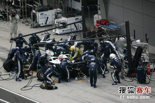 轨迹:F1中国站正赛中岛一贵在维修站空之武术图文大会图片