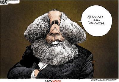 """奥巴马主张向中下层人群倾斜的经济政策,被冠以""""奥巴-马克思""""之名。ibdeditorials.com"""