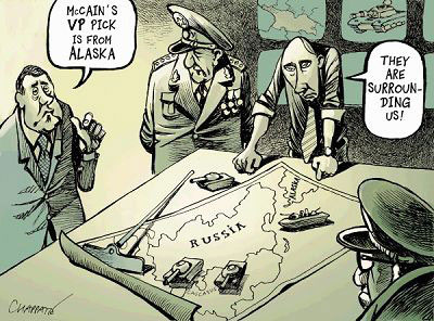 美俄新冷战在即,就连来自阿拉斯加的佩林也可以成为威胁借口。cagle.com