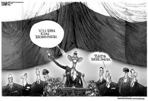 奥巴马准备赴德国访问,还未动身便已因演讲地点问题搅动德国政坛。ibdeditorials.com