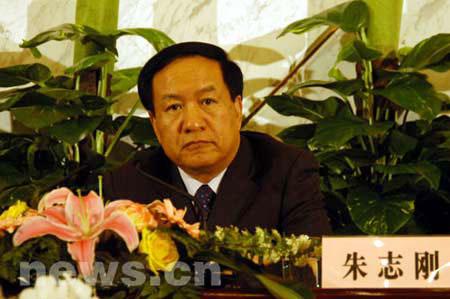 2006年3月8日下午,十届全国人大四次会议记者招待会在人民大会堂一楼新闻发布厅举行。图为时任财政部副部长的朱志刚。
