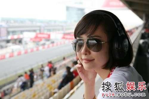 刘园园在上海见证偶像夺冠