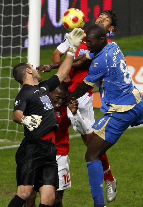 欧洲联盟杯 布拉加队守门员埃杜瓦尔多