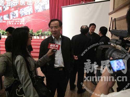 任仲伦接受新民网记者访问 新民网 薛骁翔摄