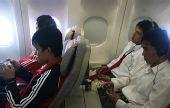 图文:国青转机奔赴沙特 游戏对战