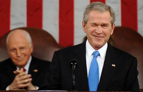 组图:盘点布什当总统以来最搞怪瞬间
