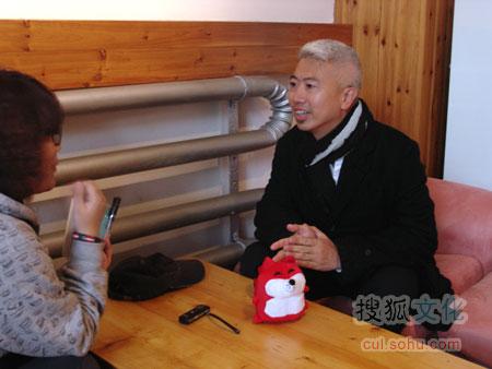 欧阳应霁接受搜狐文化采访