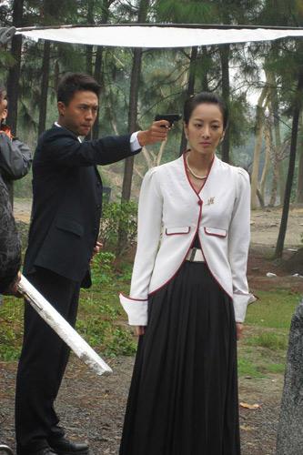杜淳@朱虹《敌营2》拍摄现场