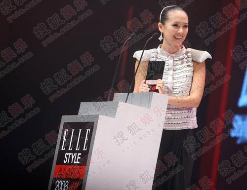 章子怡荣获风尚巨星的称号