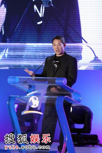 图:李连杰分享他的慈善心得