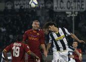 图文:尤文图斯2-0罗马 阿毛里以一敌二