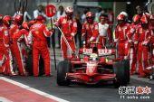 图文:F1巴西大奖赛正赛 马萨出维修站