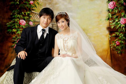 图文:[中甲]江苏王扬大婚 标准婚纱照