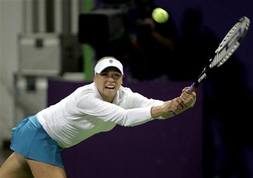 图文:WTA年终总决赛 兹沃娜列娃状态神勇